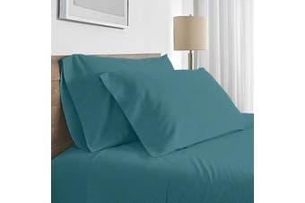 Valeria 1000TC Ultra Soft King Single Bed Sheet Set - Moroccan Blue