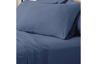 Valeria 1000TC Ultra Soft King Single Bed Sheet Set - Ocean