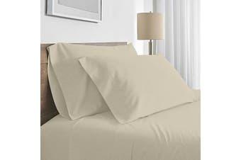 Valeria 1000TC Ultra Soft Single Bed Sheet Set - Cream