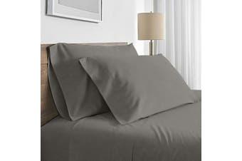 Valeria 1000TC Ultra Soft Single Bed Sheet Set - Grey