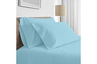 Valeria 1000TC Ultra Soft Single Bed Sheet Set - Light Blue