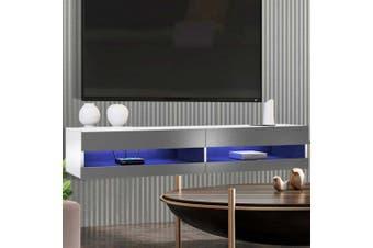 Luxo Marshall 180 cm LED Floating Entertainment Unit - White Grey