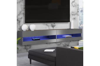 Luxo Vincent 150 cm LED Floating Entertainment Unit - Grey
