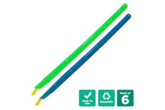 6pcs Sealing Sticks Reusable Clips Bag Sealer - Blue & Green