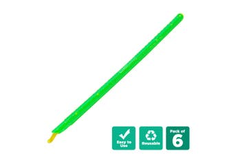 6pcs Kitchen Sealing Stick Reusable Clips Bag Sealer - Green