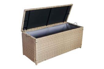 Thyme 135cm Wicker Outdoor Storage Box - Brown