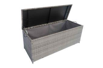 Thyme 135cm Wicker Outdoor Storage Box - Grey
