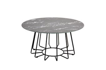 Dalselv Big Wire Coffee Table - Black Marble