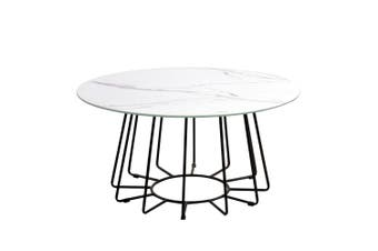 Dalselv Big Wire Coffee Table - White Marble