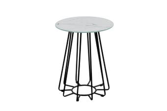 Dalselv Small Wire Coffee Table - White Marble