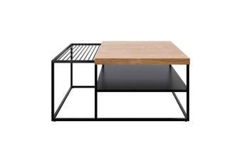 Luke Oak Veneer Coffee Table with Magazine Holder