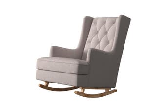 Brandt 2 in 1 Convertible Rocking Armchair - Light Grey