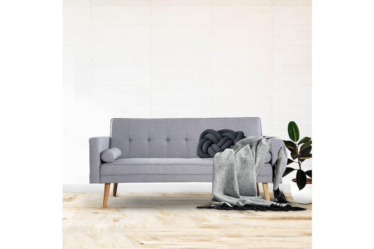 Harlan 3 Seater Scandinavian Style Sofa Bed - Light Grey