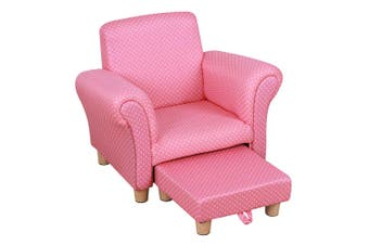Jeimi Kids Lounge Chair with Foot Stool - Pink