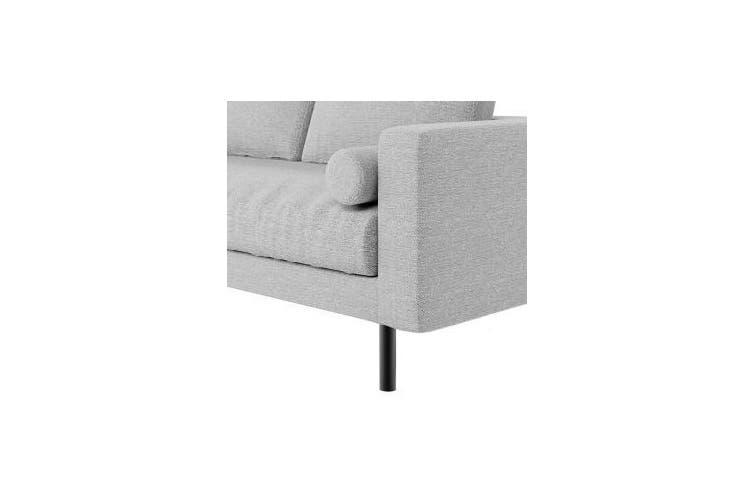 Sikas Two Seater Fabric Sofa - Light Grey