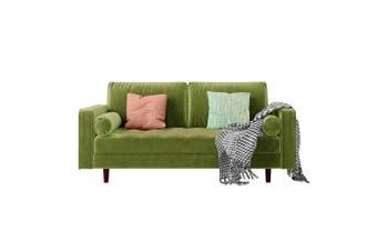Sollia 3 Seater Velvet Sofa - Jade Green