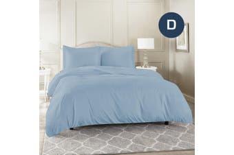 Double Size Sky Color 1000TC 100% Cotton Quilt/Doona Cover Pillowcase Set