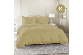 King Size Linen Color 1000TC 100% Cotton Quilt/Doona Cover Pillowcase Set