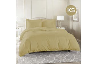 King Single Size Linen Color 1000TC 100% Cotton Quilt/Doona Cover Pillowcase Set