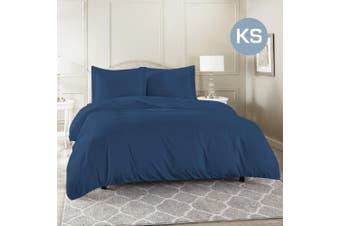 King Single Size Ocean Color 1000TC 100% Cotton Quilt/Doona Cover Pillowcase Set