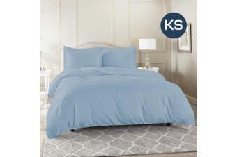 King Single Size Sky Color 1000TC 100% Cotton Quilt/Doona Cover Pillowcase Set