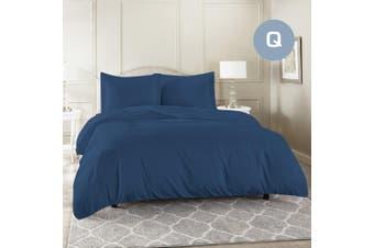 Queen Size Ocean Color 1000TC 100% Cotton Quilt/Doona Cover Pillowcase Set