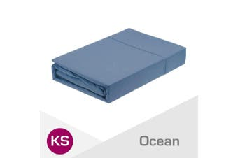 King Single Size Ocean 1000TC Egyptian Cotton Fitted Sheet + Pillowcase(NO Flat Sheet)