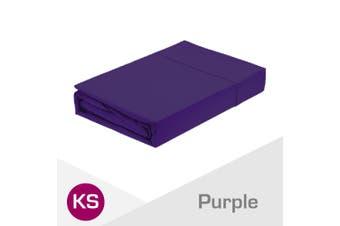 King Single Size Purple 1000TC Egyptian Cotton Fitted Sheet + Pillowcase(NO Flat Sheet)