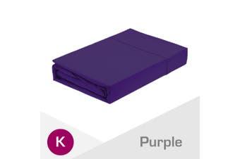 King Size Purple 1000TC Egyptian Cotton Fitted Sheet + Pillowcase(NO Flat Sheet)