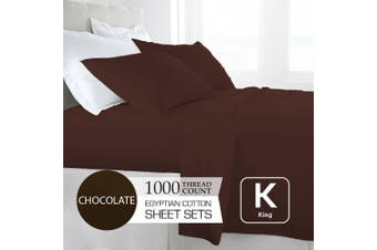King Size Chocolate 1000TC Egyptian Cotton Sheet Set