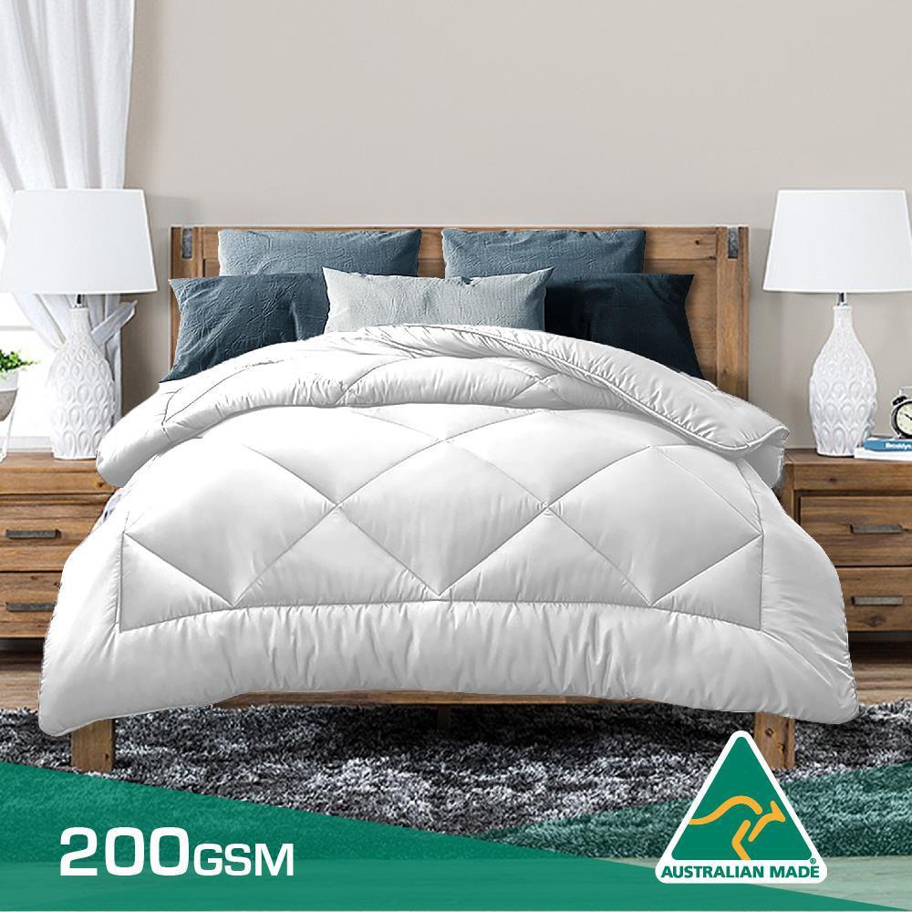 100/% Bamboo Fill Quilt Doona 200gsm Fill Cotton Cover Summer Weight Lightweight