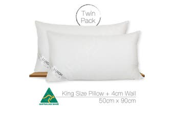 Aus Made Twin Pack King Size Hotel Quality Pillow