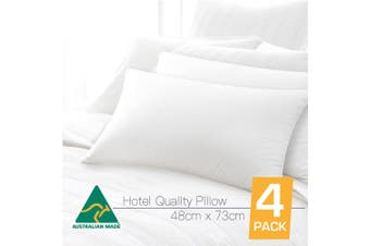 Four Pack Australian Made Hotel Quality Pillow
