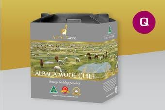 Queen Size Australian Made Luxury Alpaca Wool Quilt