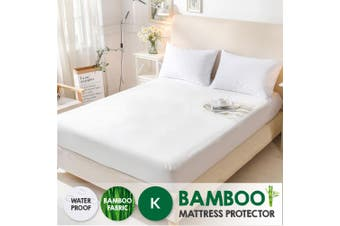 Bamboo Terry Pile Fully Fitted Waterproof Mattress Protector -King