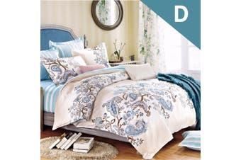 Double Size Blue Paisley Design Quilt Cover Set