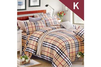 King Size BUBBERY Design Quilt Cover Set