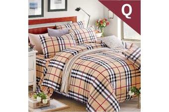Queen Size BUBBERY Design Quilt Cover Set