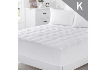 King Size 1000GSM Bamboo Fibre Pillowtop Mattress Topper