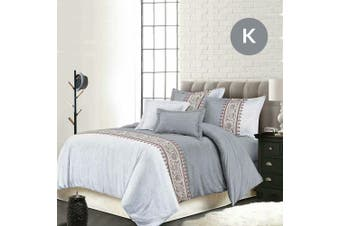 King Size Bohemian Grey Quilt/Doona Cover Set