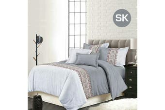 Super King Size Bohemian Grey Quilt/Doona Cover Set