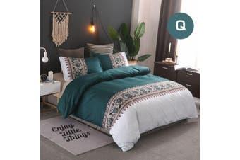 Queen Size Bohemian Jade Quilt/Doona Cover Set