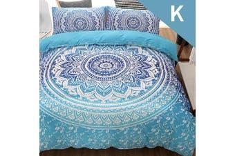 King Size Bohemian Design Quilt Cover Set