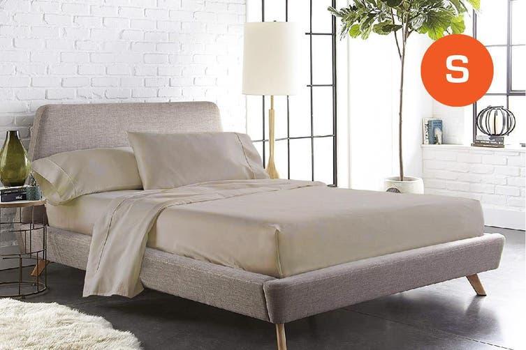 Single Size Linen Color 1000TC 100% Cotton Fittd Sheet Flat Sheet Pillowcase Set