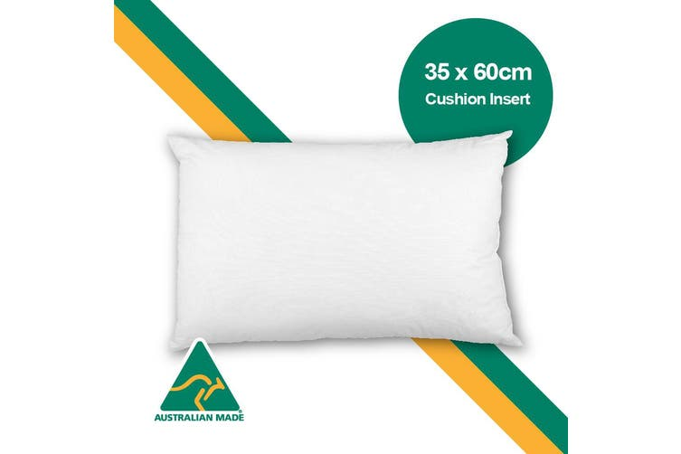 Aus Made 35 x 60cm Cushion Insert Polyester Premium Lofty Fibre