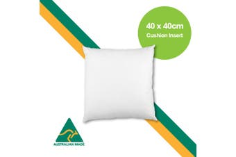 Aus Made 40 x 40cm Cushion Insert Polyester Premium Lofty Fibre