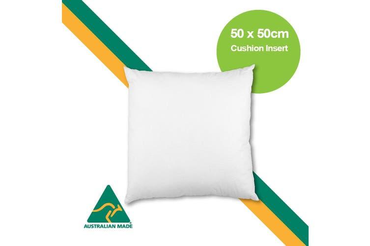Aus Made 50 x 50cm Cushion Insert Polyester Premium Lofty Fibre