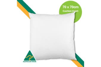Aus Made 70 x 70cm Cushion Insert Polyester Premium Lofty Fibre
