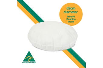 Aus Made ROUND 82cm Diameter Cushion Insert  Polyester Premium Lofty Fibre