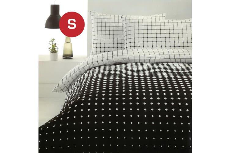 Single Size Calibri Design Quilt/Doona Cover Set